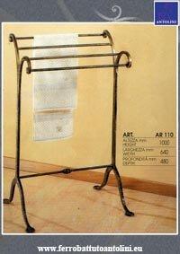 aste Porta asciugamani ferro battuto
