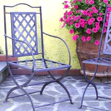 Sedie in ferro battuto da giardino