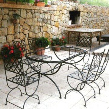 Tavoli da giardino in ferro battuto