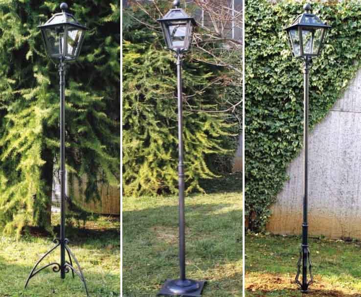 lampioni giardino in ferro battuto